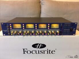 'FOCUSRITE ISA428' 4 channel microphone preamp in excellent condition.