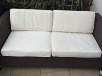Marks and Spencers rattan 2 seat garden sofa