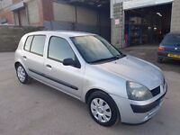 2005 RENAULT CLIO 1.2 AUTHENTIQUE 5 DOOR HATCHBACK SILVER LONG M.O.T