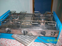 gas stove and bottle two burner with grill
