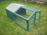 Folding/painted rabbit/guinea pig/chick/small animal run with sheltered area