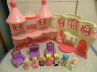 ELC Happyland Pink Enchanted Castle Bundle King Queen Princess Prince Godmother - CAN POST