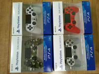 PS4 Dualshock Sony Official Green Camo, Silver, White & Red V2 Controller