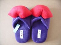 TWO BRAND NEW PAIRS OF LADDIES SLIPPERS £5