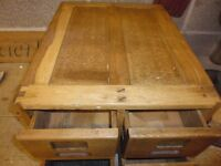 Vintage hardwood set of four draws, in very good condition, sanded and waxed