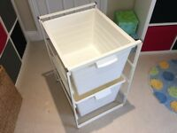 Ikea 2 Storage Units with Frame