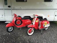 Vespa ss90 replica ..show winner E reg (58 mls)