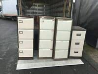 4 drawer and 3 drawer filing cabinets