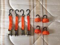 Set of Ratchet Straps & Hooks
