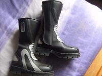 Kid Zone children's size 12 Motorcycle boots.