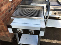 2 Burner Gas Charcoal Grill BBQ Grill Heavy Duty For Commercial Use SS240FG