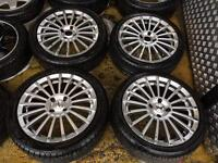 "17"" TSW ALLOY WHEELS FORD FOCUS FIESTA FUSION PUMA SET OF 4 ns"