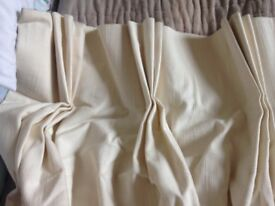 Handmade cream pencil pleat curtains