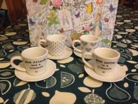 Espresso cups and glasses