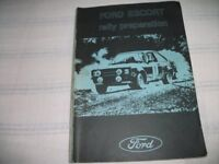 Ford Escort Rally Preparation Book