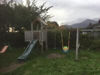 Climbing frame slide swing swings