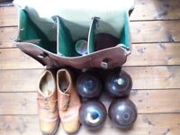 Bowls Set with Slazenger Carry Case and Bowling Shoes