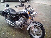 ★ 09 Pioneer 125cc Motorbike Low miles 4 Stroke Harley copy nevada cruiser ★