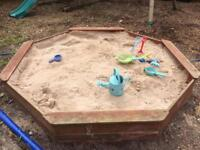 Plum large octagonal sandpit with sand
