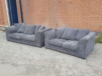 Lovely Brand New jumbo cord sofa suite.3 and 2 seaters.4 colours.Black,Grey,Brown,Beige.delivery