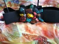 Ladies ornamental stretch belt
