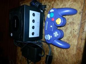 gamecube with remote and hookups