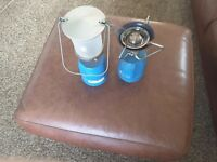 Camping gas light & stove