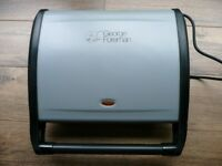 LARGE GEORGE FOREMAN GRILL, LITTLE USED.