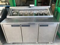 COMMERCIAL CATERING EQUIPMENT PIZZA TOPPING FRIDGE CAFE KEBAB BBQ KITCHEN RESTAURANT SHOP FAST FOOD