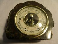 very nice example Barometer set in polished Granite mount