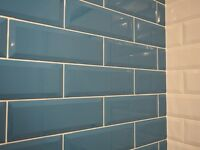Metro Teal Ceramic Bathroom Kitchen Wall Tiles