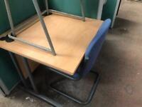 800mm x 800mm Square Office Desk - Beech
