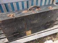 vintage wooden carpenters tool box