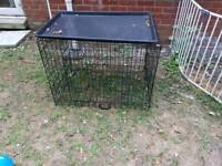 Medium double door dog cage