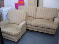 TWO SEATER SOFA AND MATCHING CHAIR