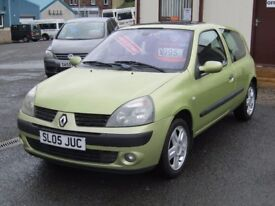 05/05 Renault Clio 1.2 Dynamique 16v, 3dr, Met Green**2 Owners, MOT March 2018, Good Part History**