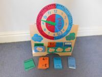 ELC date and time board and Vtech touch and teach learning globe.