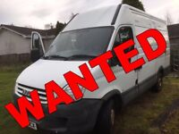 VAN WANTED!!!! IVECO DAILY ANY CONDITION