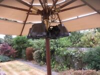 Heat master Electric 2 in 1 Patio heater/light. As new.