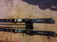 Carver Skis with Bindings and Poles