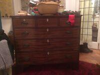 Veneered mahogany chest of drawers
