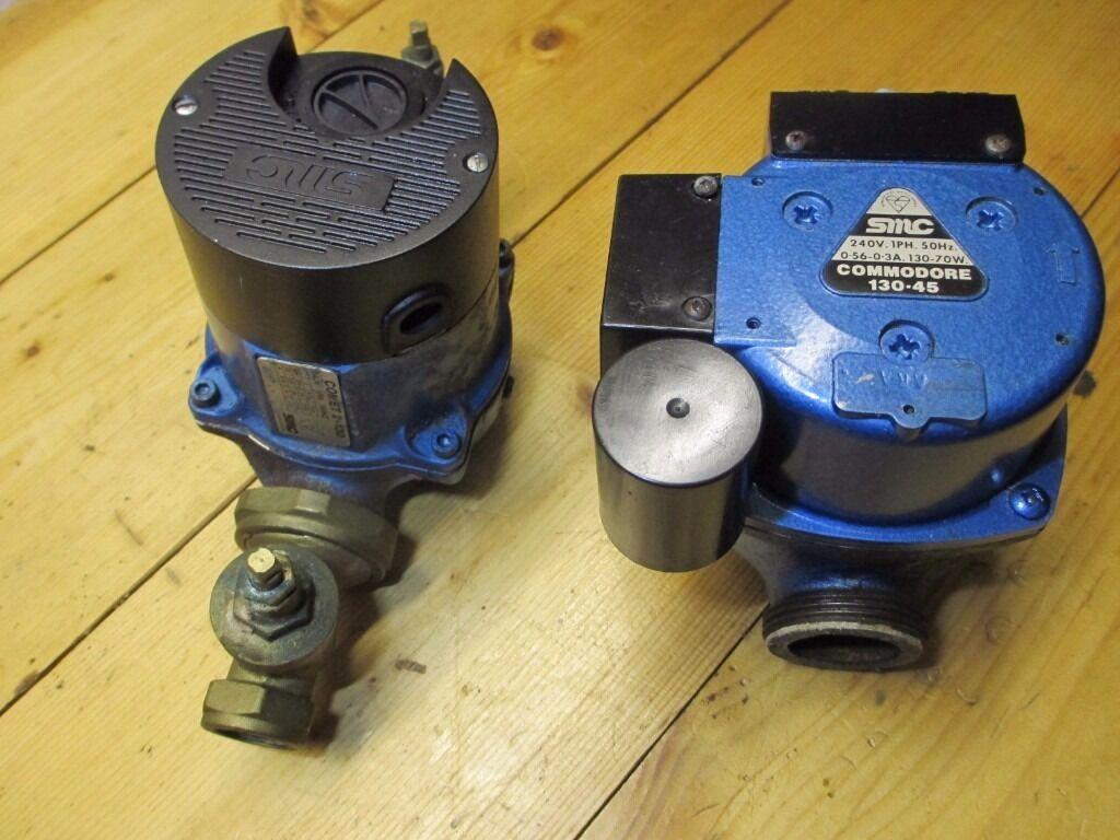 2 X Domestic Circulator Pumps Smc Central Heating Water