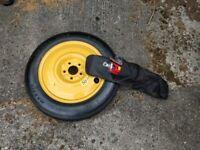 Space saver spare wheel + jack and brace to fit Hyundai ix 35 or Kia Sportage never used