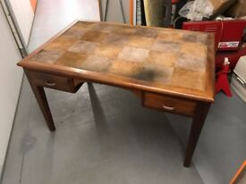 Leather top vintage desk - Australian Lucky Desk