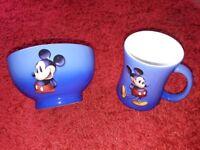 New Disney Mickey Mouse mug and bowl.