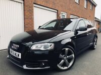 2012 12 Audi A3 Black Edition S-Line 5dr 2.0 TDI **CAT C Repaired**Ex Fleet Car not s3 a4 gtd golf