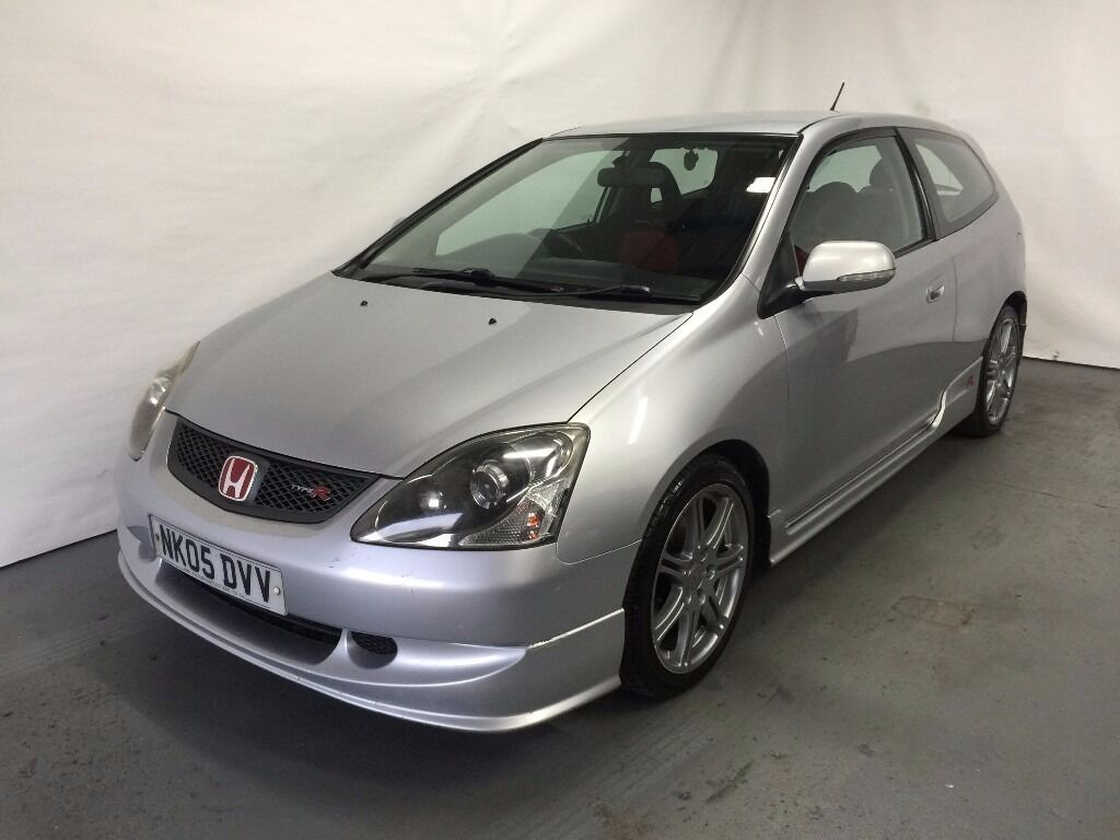 2005 ep3 honda civic 2 0 i vtec type r 3 door silver. Black Bedroom Furniture Sets. Home Design Ideas