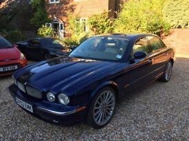 Blue Jaguar XJR supercharged v8