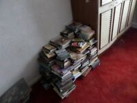 Books for sale, well over 200 hard back and soft backs.