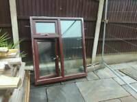 Double glazed rosewood window